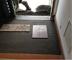 玄関タイル下地施工